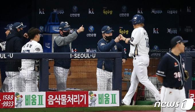 [사진] 이동욱 감독 '박석민 최고야'