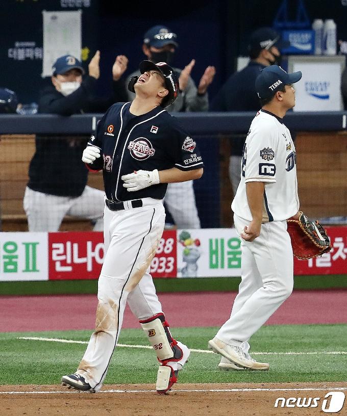 [사진] '0.043' 김재환 '차갑게 식어버린 방망이'