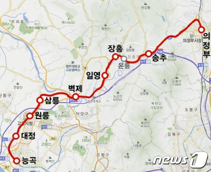 교외선 노선도 /© 뉴스1