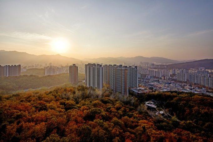 대림산업이 시공한 e편한세상 신곡포레스타뷰 단지 전경. /사진제공=대림산업