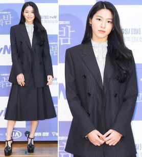 '낮과 밤' 설현, 논란 후 첫 공식석상…세련된 슈트 패션