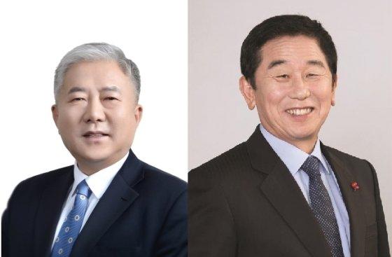 김동만 한국산업인력공단 이사장(왼쪽)과 이석행 한국폴리텍대학 이사장./사진=머니투데이 DB