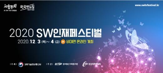 12월 3~4일 양일 간 '2020 SW인재페스티벌' 비대면 개최