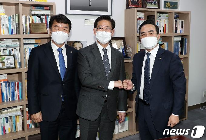양승조 충남지사, 국회 방문해 국비 확보 막바지 '총력'