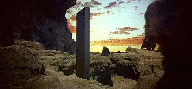 영화 2001 스페이스 오디세이의 한 장면. /사진=트위터 갈무리