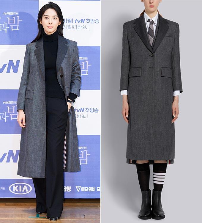 배우 이청아/사진=tvN 제공, 톰 브라운(Thom Browne)