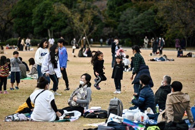 신주쿠의 한 공원 /AFPBBNews=뉴스1