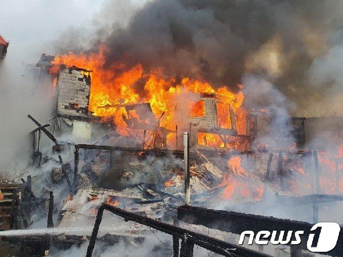 [사진] 인천 강화군 펜션 화재