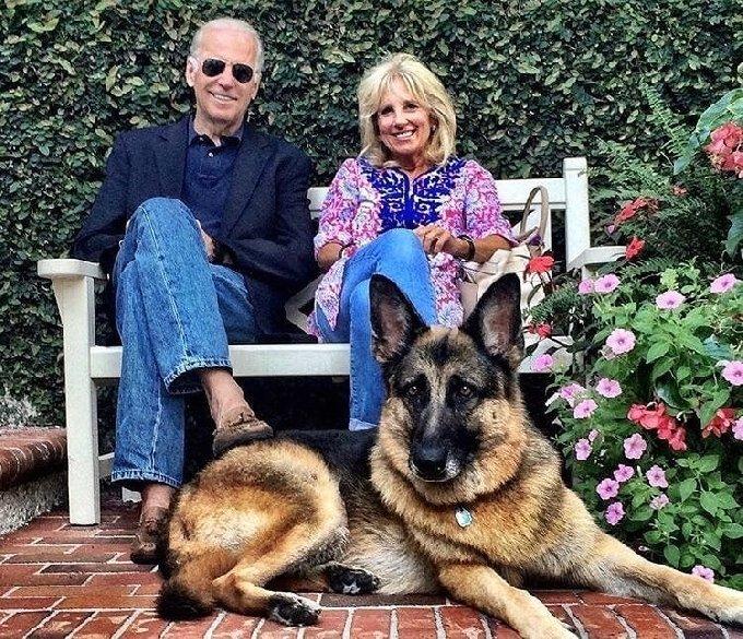 조 바이든 미국 대통령 당선인과 아내 질 바이든, 반려견 '소령' - 바이든 선거캠프