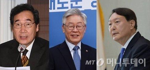(왼쪽부터) 이낙연 더불어민주당 대표, 이재명 경기도지사, 윤석열 검찰총장./사진=머니투데이DB