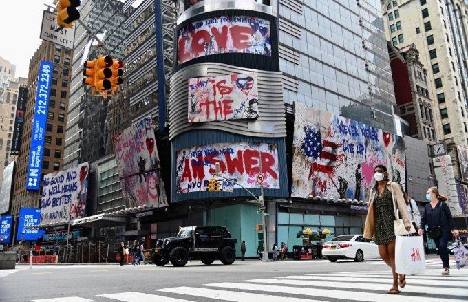 미국 뉴욕 타임스퀘어. /AFPBBNews=뉴스1