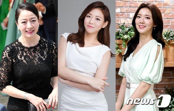 노현정, 이다희, 김민형 전 아나운서(왼쪽부터)/뉴스1 DB © 뉴스1