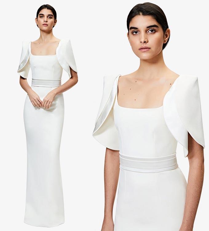 사피야 '다라 아이보리 롱 드레스'/사진=사피야 공식 홈페이지