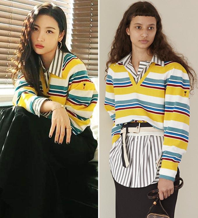 가수 선미, 루이 비통 2021 리조트 컬렉션/사진=선미 인스타그램, 루이 비통