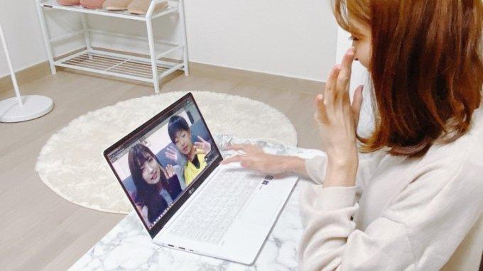 알서포트의 '리모트미팅'으로 가족 모임을 하는 모습 /사진=알서포트