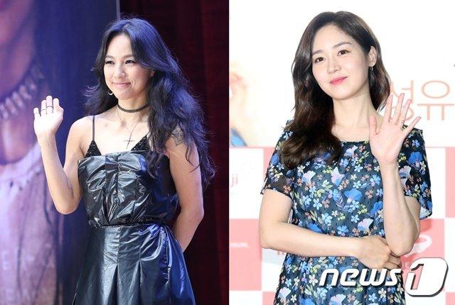 이효리(왼쪽), 성유리 © 뉴스1