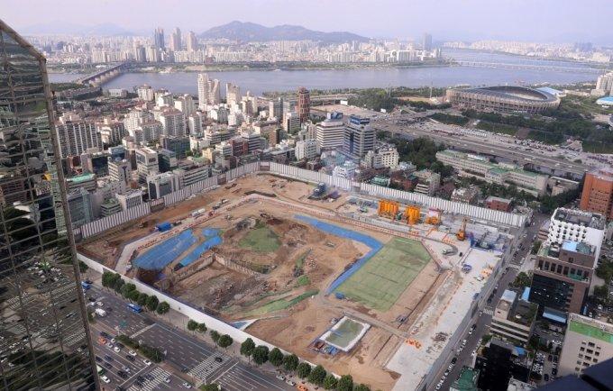 서울 강남구 삼성동 현대차 GBC 부지 전경. /사진=이기범 기자