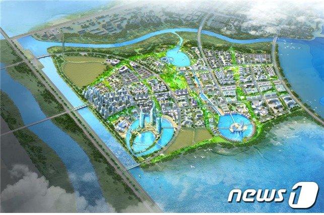 새만금 수변도시 조감도.(전북도 제공)2020.12.18/© 뉴스1