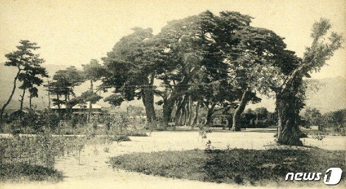 일제강점기 때 석왕사 관광을 위해 건설된 석왕사역 모습. (미디어한국학 제공) 2020.12.19.© 뉴스1