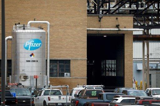 미국 미시건 칼라마주에 있는 화이자 글로벌 공급시설Global Supply facility)/사진=AFP