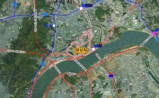 구리시 한강변 개발사업 위치도. /사진제공=요진건설산업