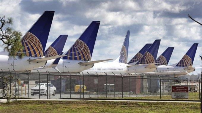 미국 플로리다주 올랜도 국제공항에 서 촬영한 유나이티드 항공 비행기들. /사진=[올랜도=AP/뉴시스]