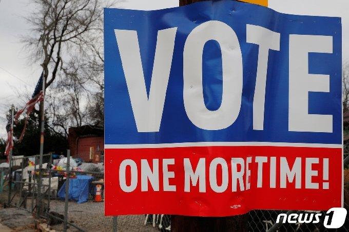 조지아주 애틀랜타 결선투표 현장. © 로이터=뉴스1