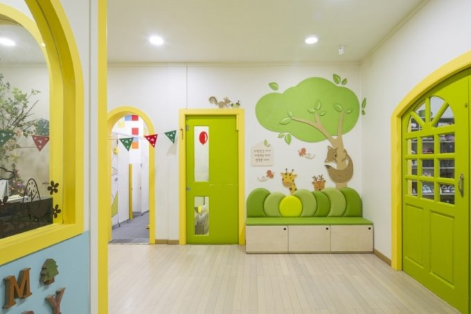 삼화페인트 항바이러스도료를 칠한 어린이집./사진제공=삼화페인트