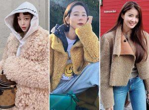 한예슬·윤아·황신혜처럼…패딩 대신 '시어링 재킷' 어때요?