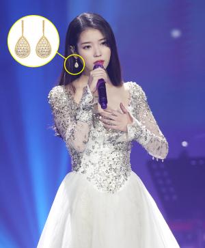 """아이유, 귀걸이만 '3810만원'…드레스 포인트 """"어디 거?"""""""