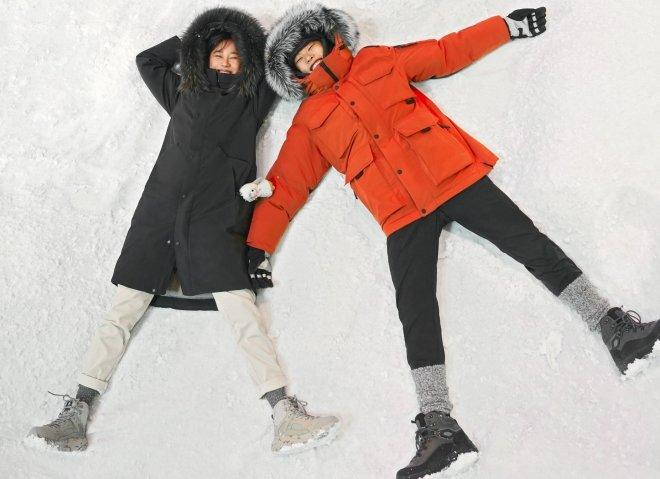 기록적인 한파로 코오롱스포츠의 안타티카 점퍼의 1월 첫째주 판매량은 5배 가량 급증했다