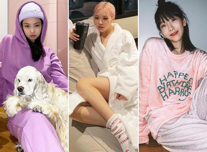 그룹 블랙핑크 제니, 로제, 가수 태연/사진=각 스타 인스타그램