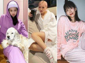 슬기로운 '집콕' 패션…한예슬·제니·로제의 '홈웨어' 스타일
