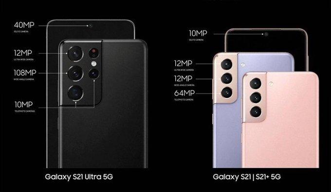 삼성전자 플래그십 스마트폰 갤럭시S21 시리즈 후면 카메라 사양 /사진=삼성전자
