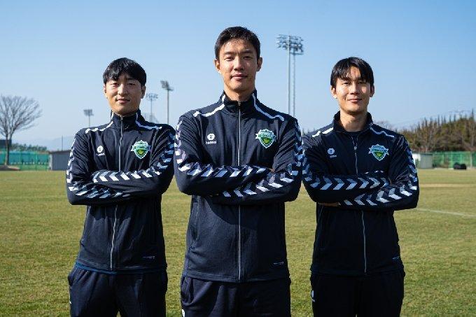 (왼쪽부터) 최영준, 홍정호, 이용. /사진=전북 현대 제공