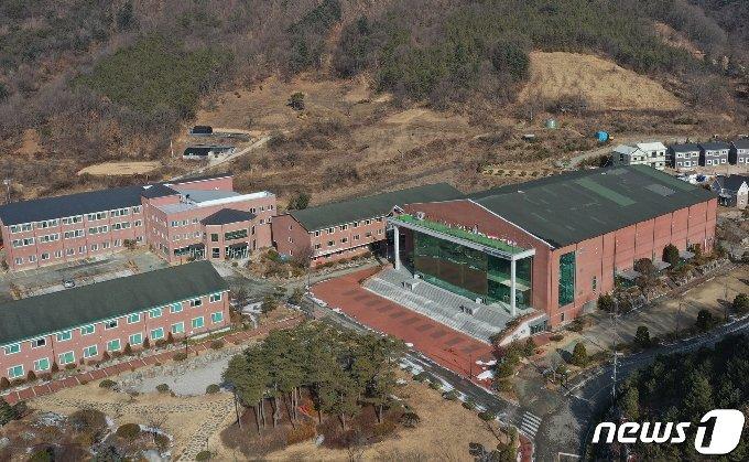 14일 경북 상주시 화서면 상용리 봉황산 끝자락에 위치한 BTJ 열방센터 모습. 2021.1.14/뉴스1 © News1 공정식 기자