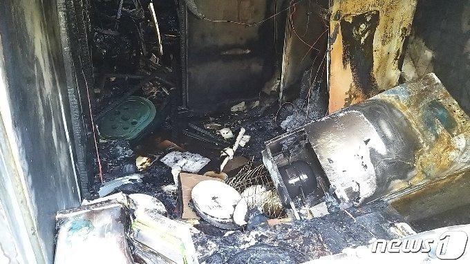 화재 현장.(부산소방재난본부고제공)© 뉴스1
