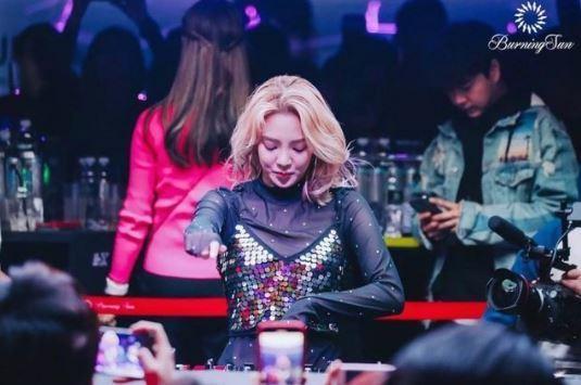 그룹 소녀시대 효연이 과거 클럽 버닝썬에서 DJ를 하고 있는 모습./사진='버닝썬 사태' 최초 제보자 김상교씨 인스타그램