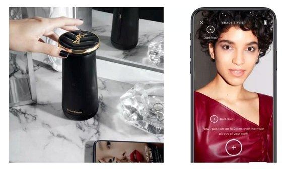로레알의 가정용 개인 맞춤형 화장품 디바이스 '페르소'와 전용 스마트폰앱/사진=로레알