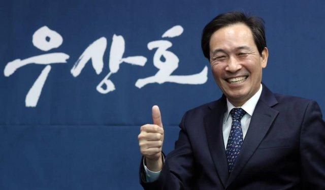 우상호 더불어민주당 서울시장 후보 인터뷰. / 사진=이기범 기자