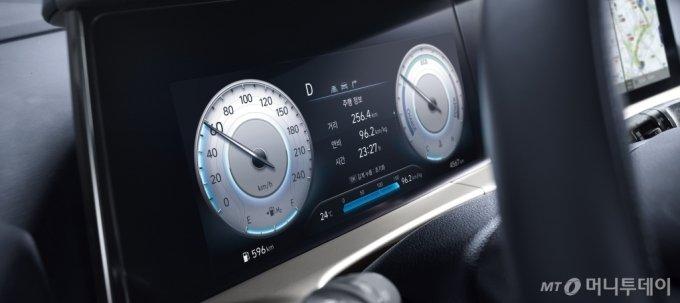 '2021 넥쏘' 10.25인치 클러스터/사진제공=현대차