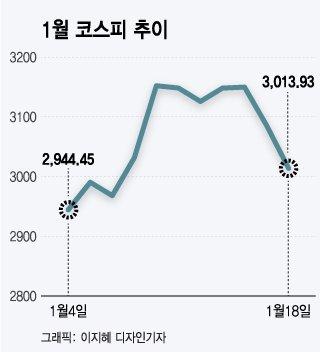 """코스피 3010선 후퇴…""""승차감 불편해도 하차할 때 아냐"""""""