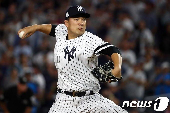 뉴욕 양키스에서 활약했던 일본인 투수 다나카 마사히로. © AFP=News1