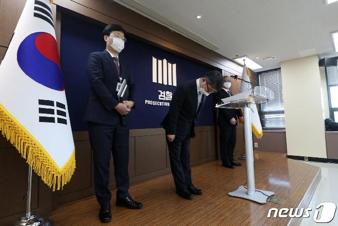 [사진] 세월호 참사 최종 수사결과 발표 마친 임관혁 단장