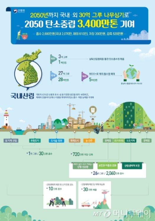 '2050 탄소중립 산림부문 체계도'/자료제공=산림청