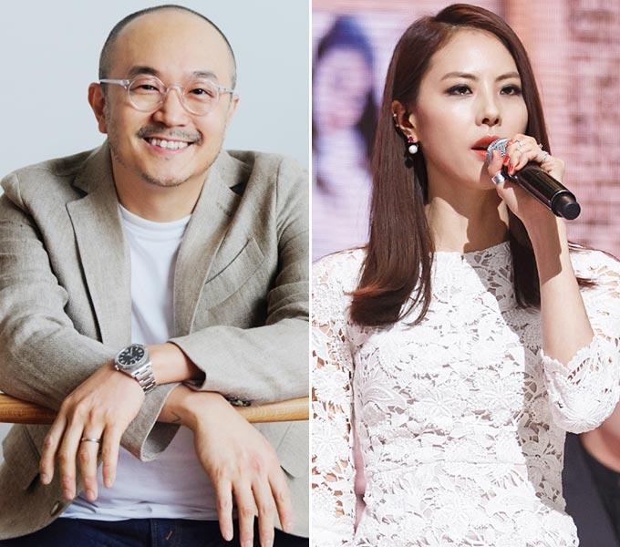 조수용 카카오 공동대표, 가수 박지윤/사진=카카오 제공, 머니투데이 DB