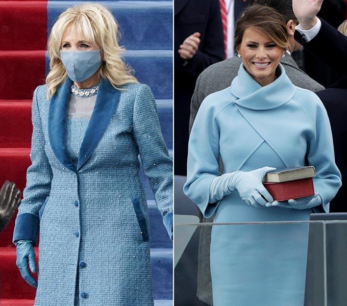 미국 대통령 조 바이든의 아내 질 바이든와 미국 도널드 트럼프 전 대통령 아내 멜라니아 트럼프/사진=AFP/뉴스1