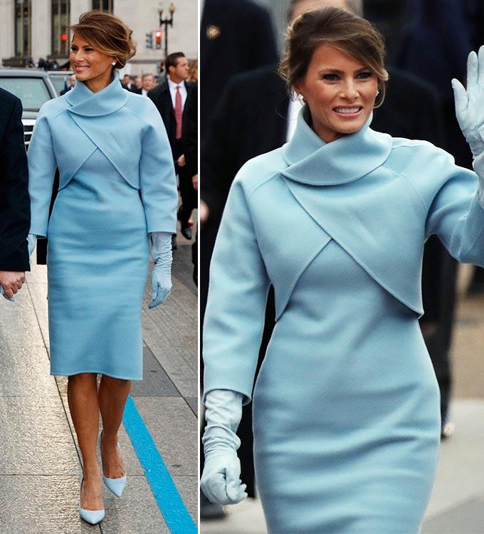 도널드 트럼프 전 미국 대통령의 부인 멜라니아 트럼프 여사가 4년 전 대통령 취임식에 참석하던 모습/사진=AFP/뉴스1