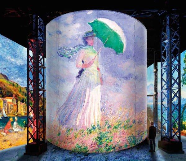 제주 '빛의 벙커'가 '반 고흐' 이후 오는 4월 말 준비중인 몰입형 미디어아트의 새 시리즈 '모네, 르누아르, 샤갈'. /사진제공=빛의벙커