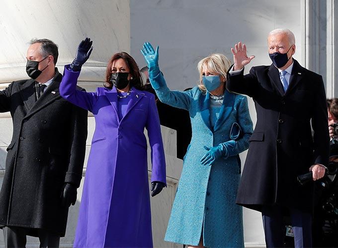 카멀라 해리스 미국 부통령 부부와 조 바이든 미국 대통령 부부/사진=REUTERS/뉴스1